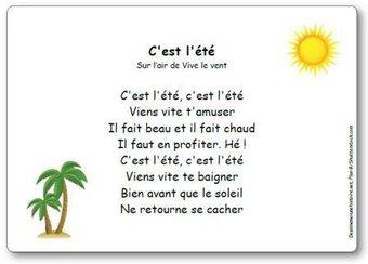 Image de Comptine « C'est l'été » (sur l'air de Vive le vent)
