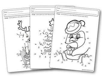 Image de Jeux des points à relier sur le thème de Noël