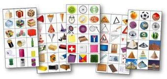 Image de Étiquettes pour le tri des formes géométriques