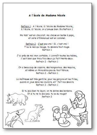 Image de Chanson « À l'école de Madame Nicole » de Christiane Oriol