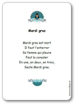 Image de Comptine « Mardi gras »