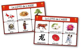 Image de Le loto de l'Asie, de la Chine et du Japon