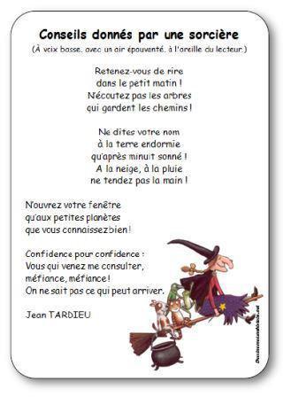 Image de Poésie « Conseils donnés par une sorcière » de Jean Tardieu