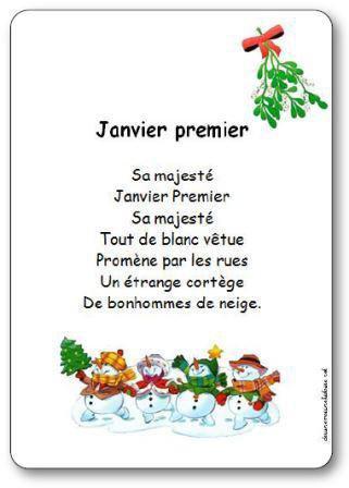 Image de Comptine « Janvier premier »