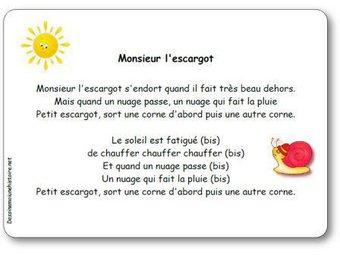 Image de Comptine « Monsieur l'escargot » (s'endort…)