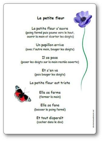 Image de Comptine à gestes « La petite fleur »