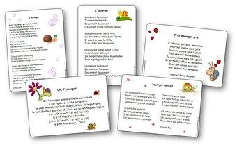 Image de Chansons, comptines et poésies sur les escargots