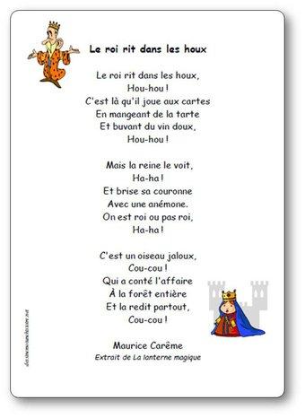 Image de « Le roi rit dans les houx », une poésie de Maurice Carême