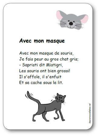 Image de Comtpine « Avec mon masque de souris »