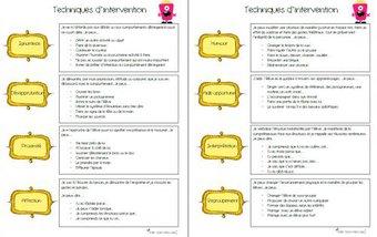 Image de 16 techniques d'interventions et petits trucs pour la gestion en classe