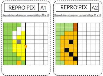 Image de La symétrie par le Pixel'Art