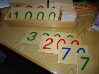 Image de Numération : Unité de mille - centaine - dizaine - unité (matériel Montessori)
