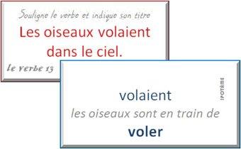 Image de CE1 : jeu de reconnaissance du verbe