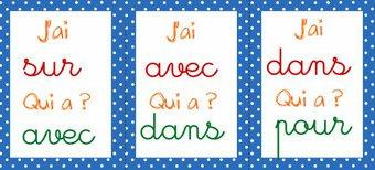"""Image de CP CE1 français : jeu """"j'ai qui a ?"""