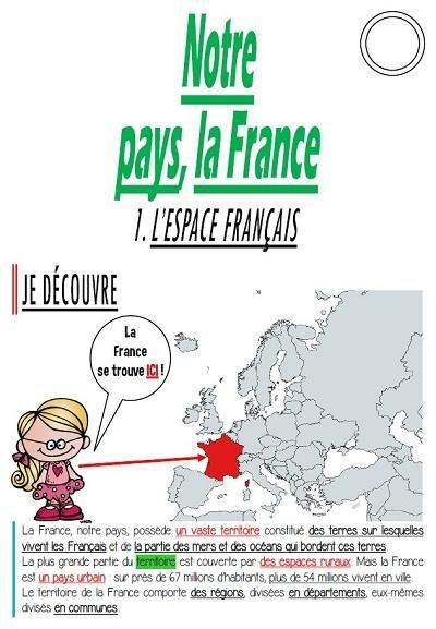 Cm Géographie Notre Pays La France Par La Classe Bleue