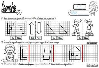 Image de CM-Géométrie-La symétrie/Construire le symétrique