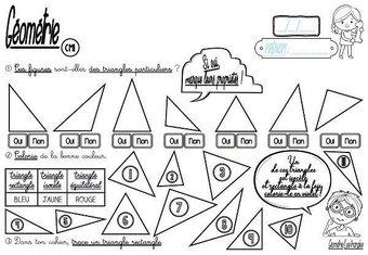 Image de CM-Géométrie-Les triangles-Les fiches d'activité