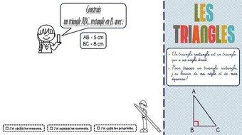 """Image de CM-Géométrie-Les triangles-Les """"rapidofiches"""""""
