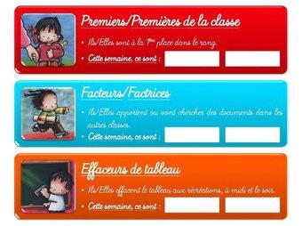 Image de CE1-Les outils pour la classe-Le tableau de services
