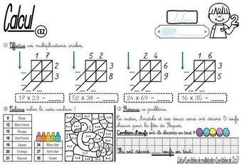Image de CE2-Calcul-Les tables de multiplication