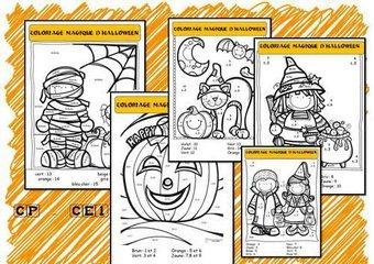 Image de Coloriages magiques d'halloween