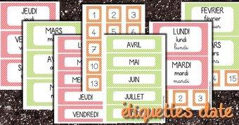 Image de Les étiquettes dates