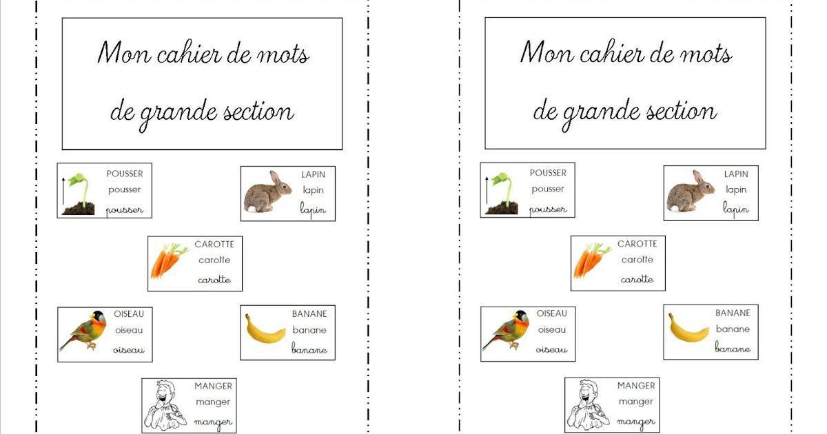 Cahier De Mots Par La Classe De Laurene Jenseigne Fr