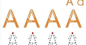 Image de fiches écriture majuscules / capitales