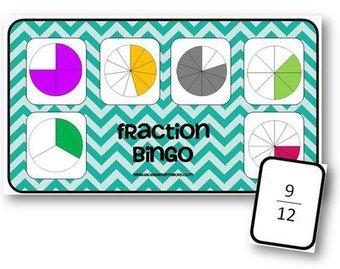 Image de Fraction Bingo - jeu sur les fractions