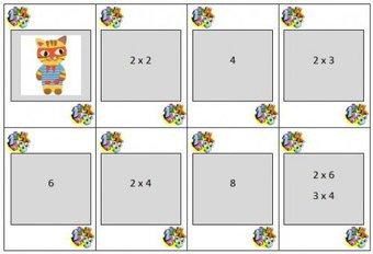 Image de Jeu de mistigri pour apprendre les tables de multiplication