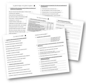 Image de Grammaire CM1 – les exercices