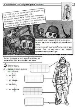 Image de Le 11 novembre expliqué aux enfants de CP