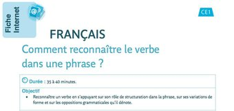 Image de Français : Comment reconnaître le verbe dans une phrase ?