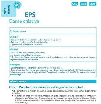 Image de EPS : Danse créative