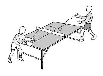 Image de EPS : Tennis de table (I)