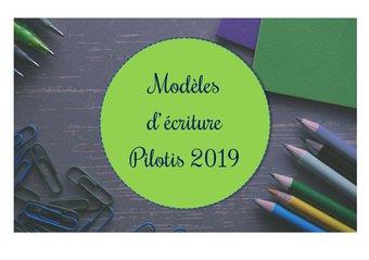 Image de Modèles d'écriture Pilotis 2019