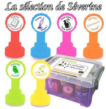 Image de Une boîte de tampons « thème sorciers »