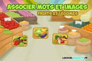 Image de Associer mots-images : fruits et légumes