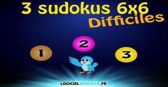 Image de Sudokus pour enfants 36 cases (dur)!