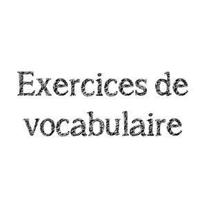Image de Exercices de vocabulaire CE2
