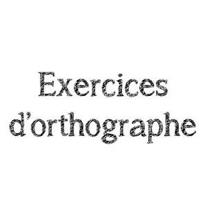 Image de Exercices d'orthographe CE2