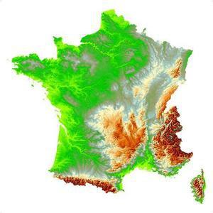 Image de La France : frontières et relief