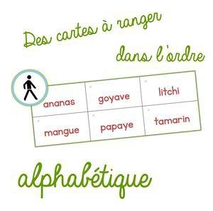 Image de Des cartes à ranger dans l'ordre alphabétique