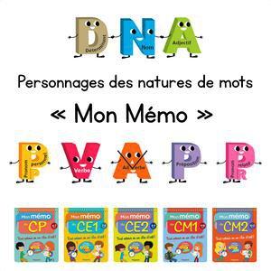 Image de Les personnages natures de mots, version « Mon Mémo »