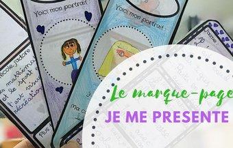 Image de Le marque-page « Je me présente »