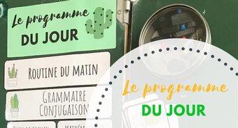 Image de Les étiquettes « Programme du jour » 2018-2019