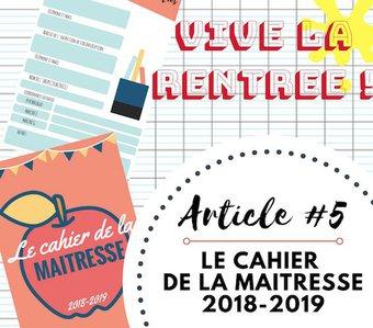 Image de Le cahier de la maîtresse 2018 – 2019
