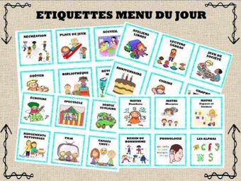 Image de Menu du jour : Etiquettes