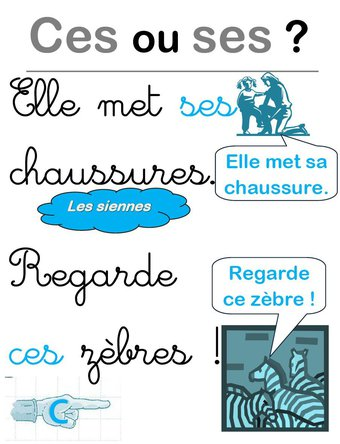 Image de Affiche pour les homophones ces/ses