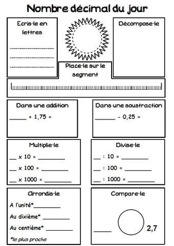 Image de Le nombre décimal du jour (rituel)